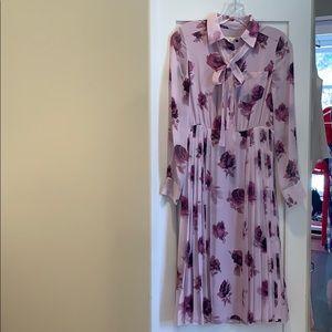 NWT Kate Spade Chiffon Dress. Pink Rose. Size 0.